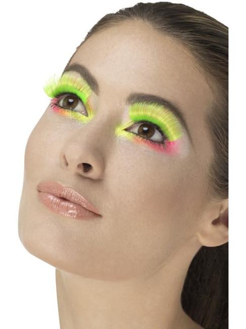 Neon Green 80's Party Eyelashes, Fever Eyelashes
