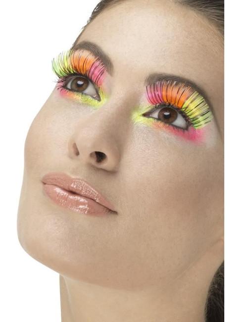 Neon 80's Party Eyelashes, Fever Eyelashes
