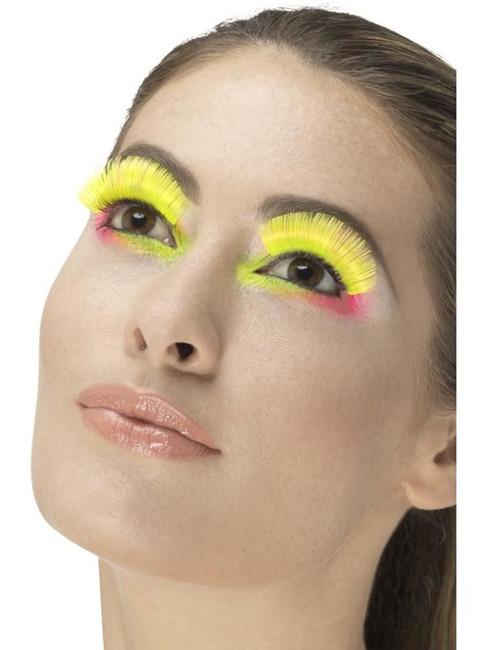 Neon Yellow 80's Party Eyelashes, Fever Eyelashes