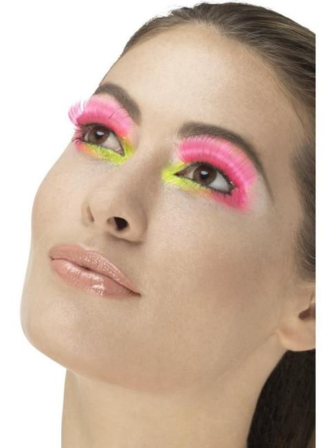 Neon Pink 80's Party Eyelashes, Fever Eyelashes