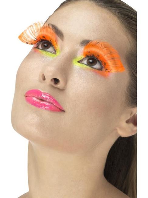Neon Orange 80's Polka Dot Eyelashes, Fever Eyelashes