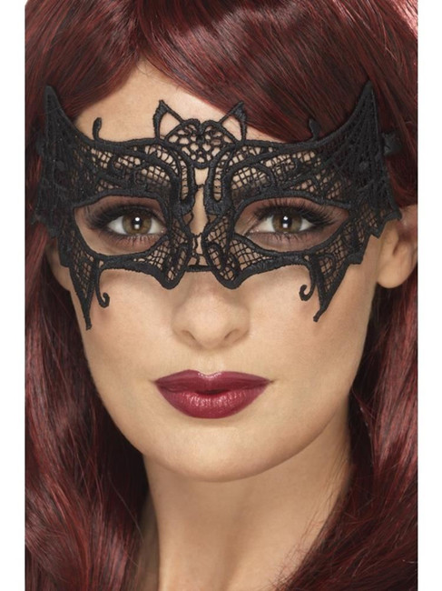 Embroidered Lace Filigree Bat Eyemask,Halloween Carnival  Fancy Dress