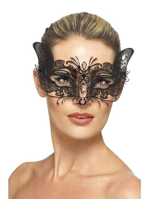 Venetian Metal Filigree Feline Eyemask, Eyemasks, Fancy Dress