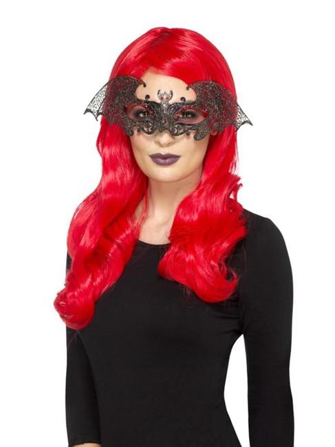 Metal Filigree Bat Eyemask,Halloween Carnival Fancy Dress,One Size