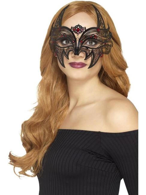 Metal Filigree Devil Eyemask, Halloween Carnival of the Damned Fancy Dress