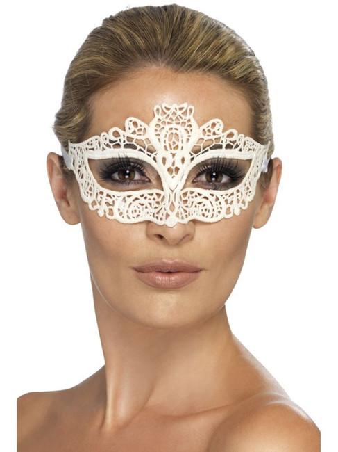 Embroidered Lace Filigree Eyemask, One Size, Eyemasks, Fancy Dress