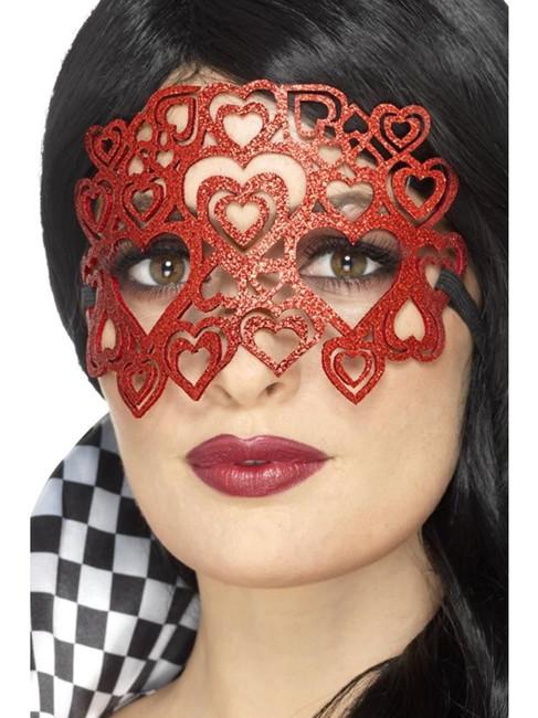 Red Soft Felt Glitter Eyemask, Eyemasks