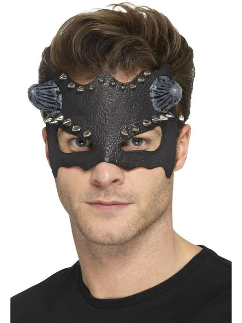 Devil Studded Eyemask,Halloween Carnival of the Damned Fancy Dress. One Size