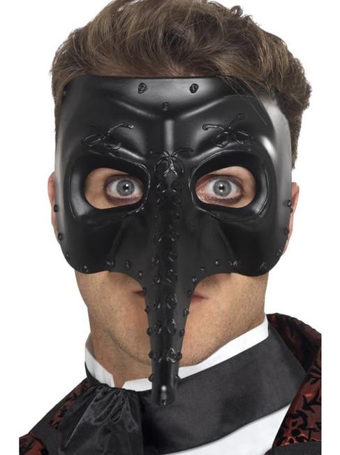 Venetian Gothic Capitano Mask, Eyemasks, Fancy Dress