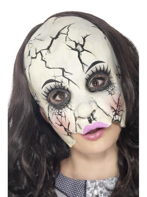 Damaged Doll Mask, Halloween Fancy Dress, MULTI