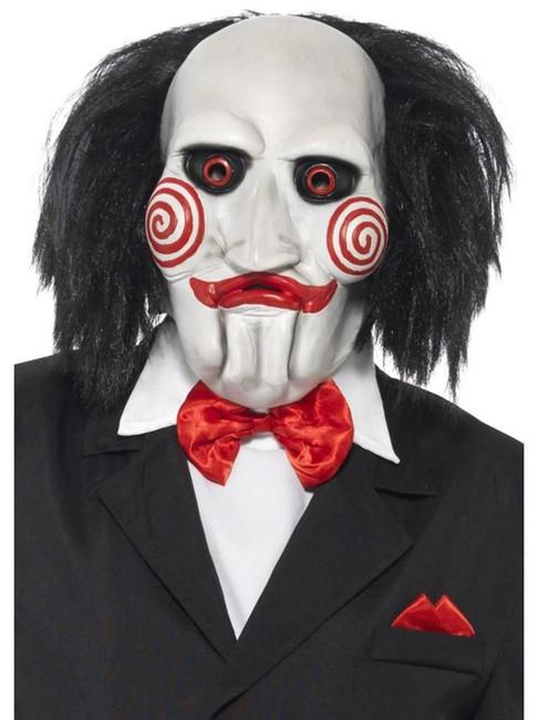Saw Jigsaw Mask, Halloween Fancy Dress, BLACK & WHITE