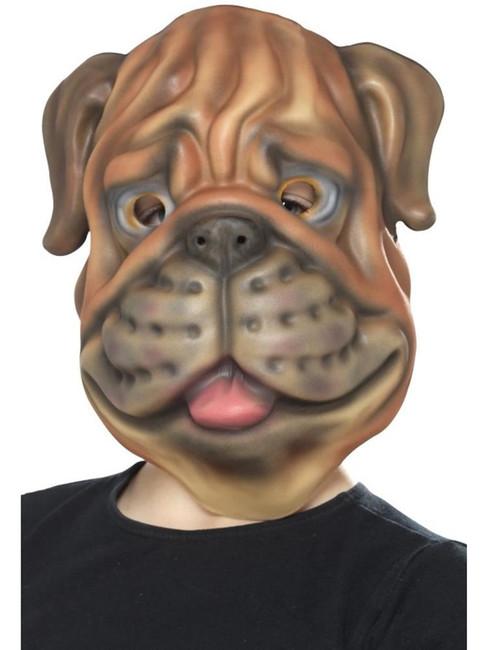 Brown Dog Mask, EVA, Children's Animal Fancy Dress. One Size