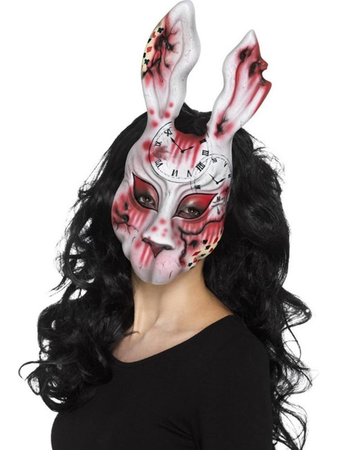 Multi Evil Bunny Mask, Halloween Twisted Fairytale Fancy Dress