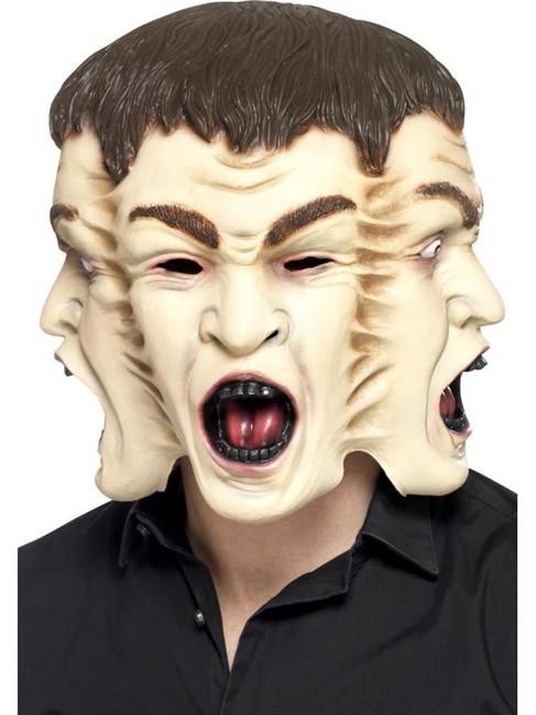 3 Face Mask, Halloween Fancy Dress, NUDE