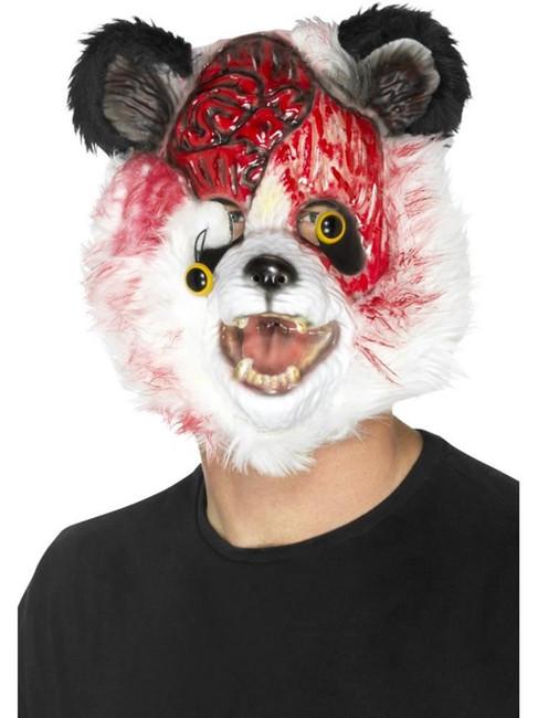 Zombie Panda Mask, Halloween Zombie Alley Fancy Dress. One Size