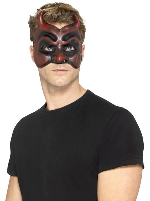 Masquerade Devil Mask,Latex,Halloween Carnival Fancy Dress,One Size