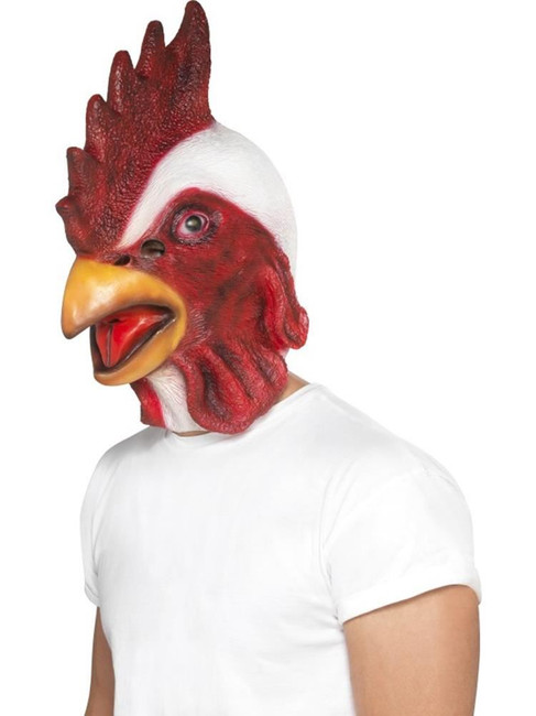 Chicken Mask, Adult Fancy Dress Costumes, WHITE