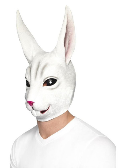 Rabbit Mask, Adult Fancy Dress Costumes, WHITE