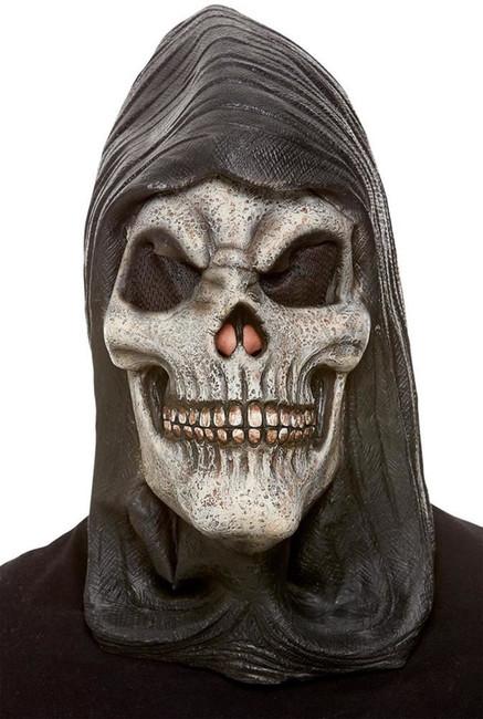 Hooded Skeleton Latex Mask, Fancy Dress/Halloween Mask