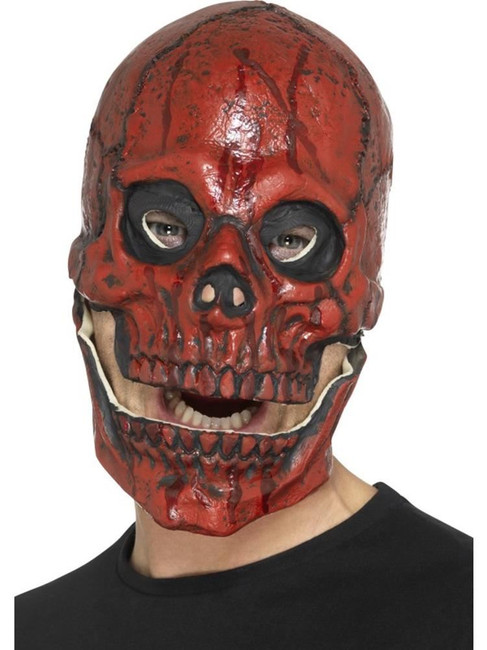 Blood Skull Mask, Foam Latex, Halloween Fancy Dress Accessories