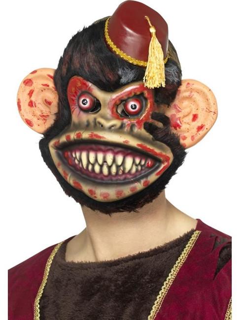 Zombie Toy Monkey Mask, Halloween Twisted Fairytale Fancy Dress. One Size