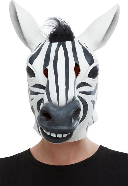 Zebra Latex Mask, Fancy Dress/Halloween Mask