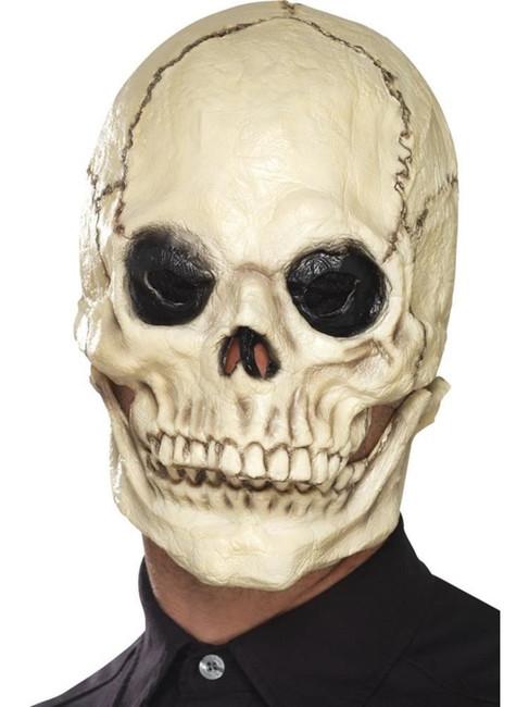 Skull Mask, Foam Latex, Halloween Fancy Dress, WHITE