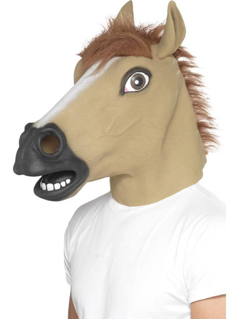 Horse Mask, Adult Fancy Dress Costumes, BROWN