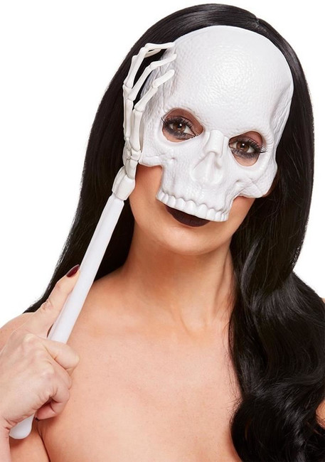 Handheld Skull Mask, Fancy Dress/Halloween Mask