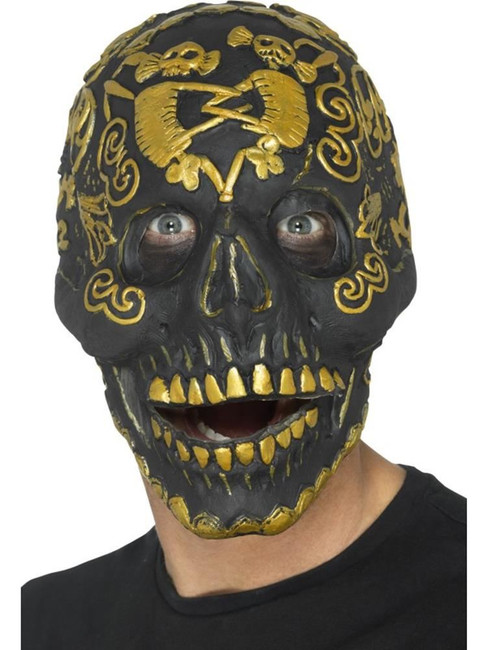 Deluxe Masquerade Skull Mask,Halloween Carnival Fancy Dress,One Size