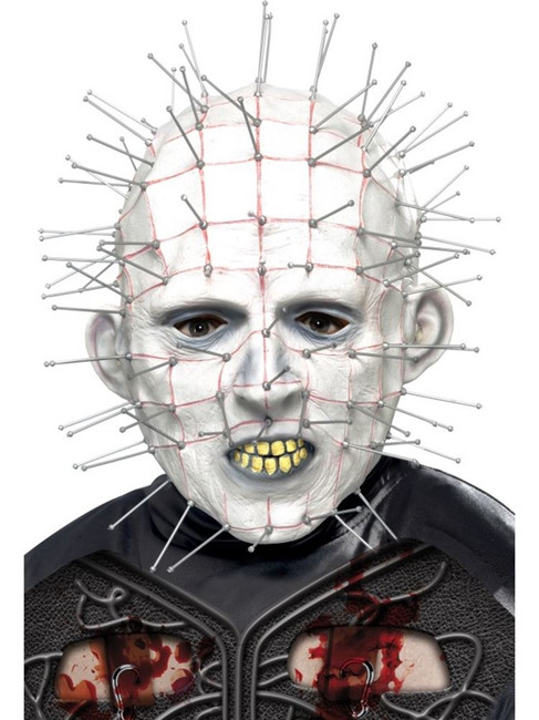 Pinhead Mask, Hellraiser, Halloween Licensed Fancy Dress