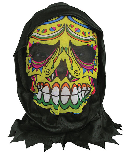 Skin Mask with Hood Day of the Dead