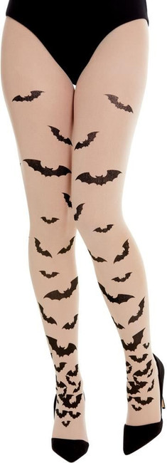 Opaque Tights with Bats, Fancy Dress Accessory