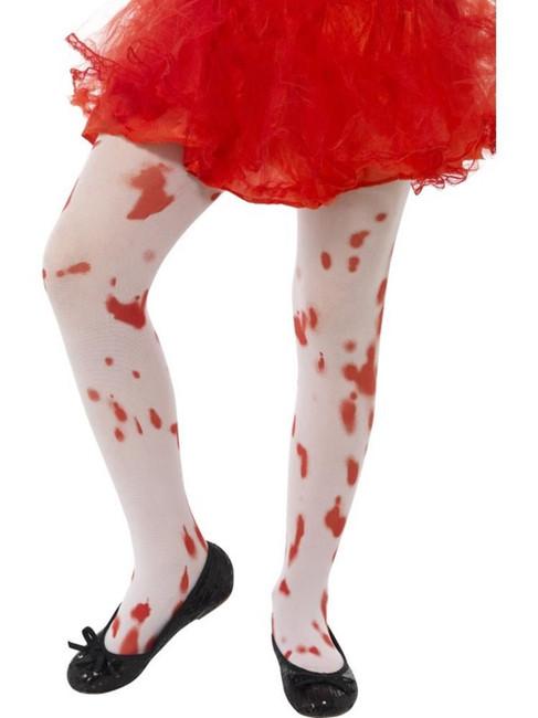 Tights, Medium/Large Age 8-12, Halloween Fancy Dress, Girls, WHITE