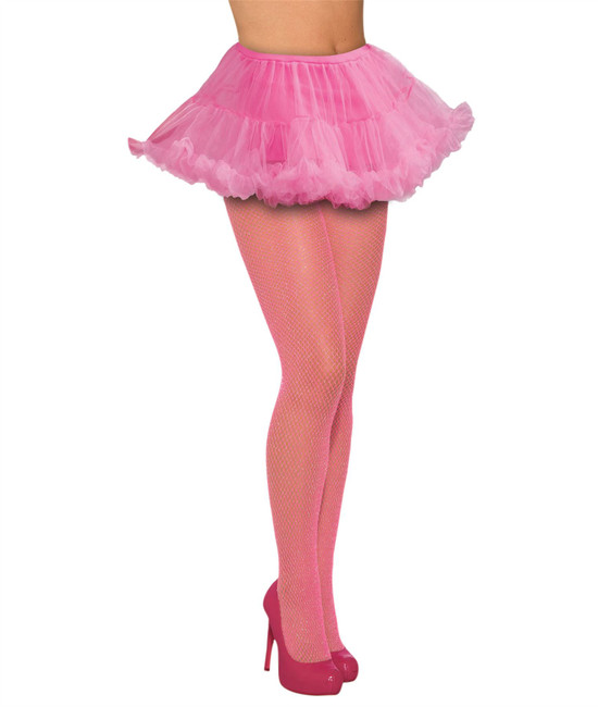 Fishnet Stockings Glitter Pink