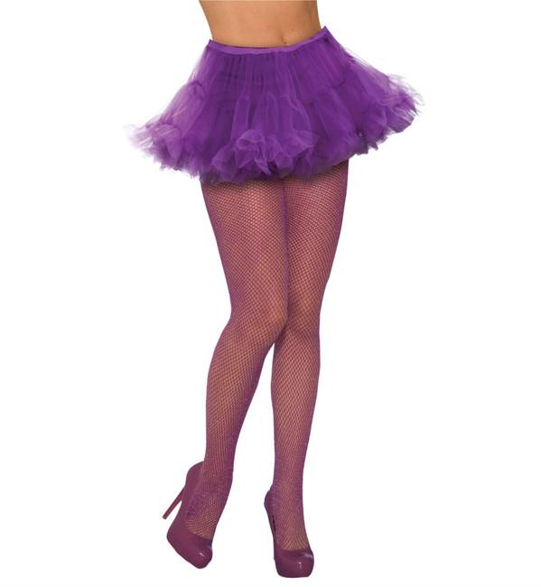 Fishnet Stockings Glitter Purple