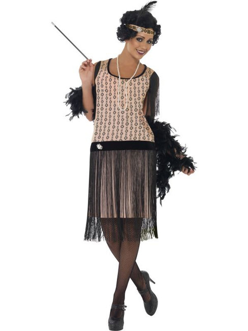 1920's Coco Flapper Costume, UK Dress 12-14