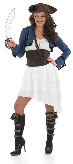 RA RA PIRATE GIRL, WOMENS FANCY DRESS COSTUME