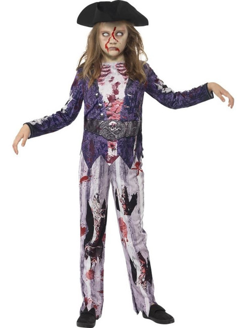 Deluxe Jolly Rotten Pirate Girl Costume,Medium Age 7-9,Halloween Fancy Dress