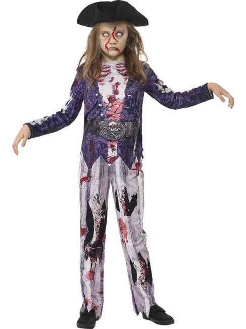 Deluxe Jolly Rotten Pirate Girl Costume,Large 10-12,Halloween Fancy Dress