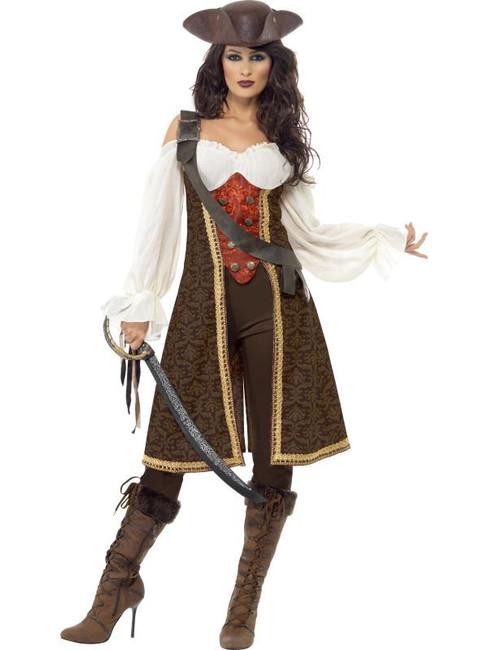 High Seas Pirate Wench Costume, UK Dress 16-18