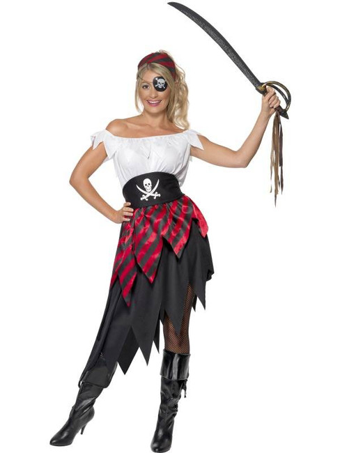 Pirate Wench Costume, UK Dress 16-18