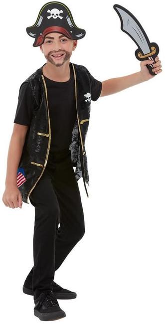 Pirate Kit, Fancy Dress Accessory, Small/Medium Age 4-7