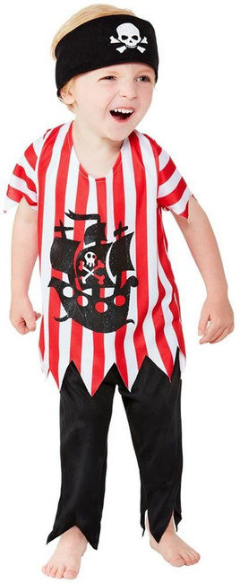 Toddler Jolly Pirate Costume, Childs Fancy Dress, Toddler Age 1-2