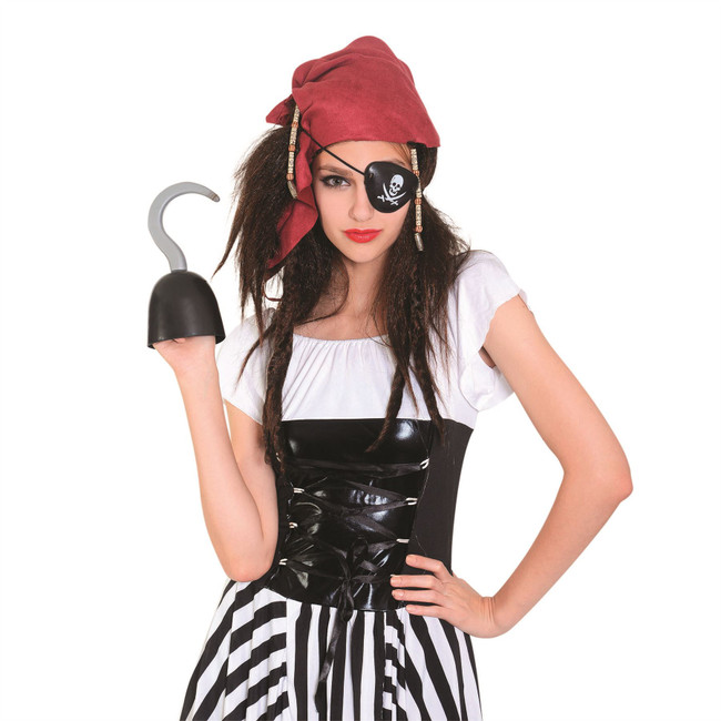 Pirate Bandana + Wig (Ladies) + Eyepatch