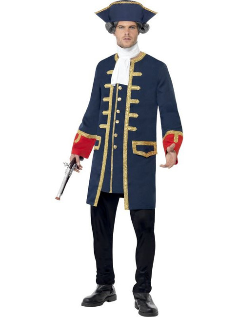 "Pirate Commander Costume, Chest 38""-40"", Leg Inseam 32.75"""