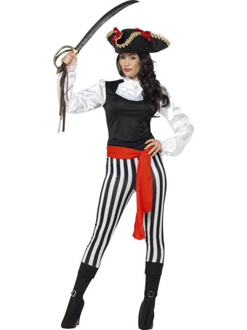 Pirate Lady Costume, with Top, Pirate Fancy Dress. UK Size 8-10