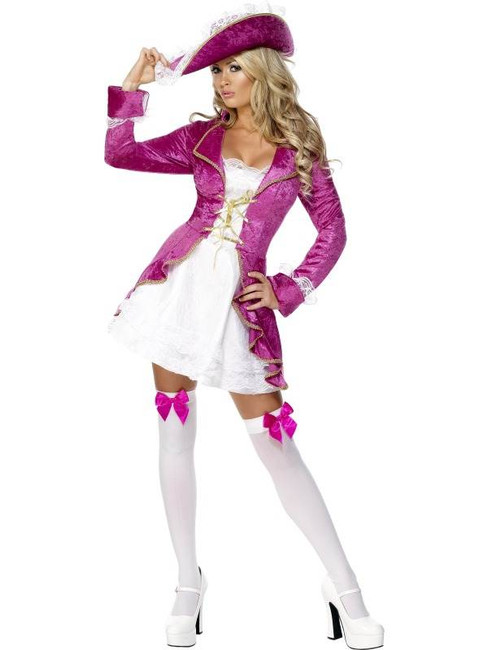 Fever Pirate's Treasure Costume, UK Dress 8-10