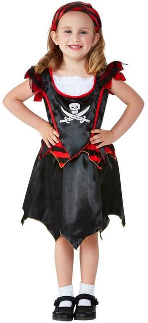 Toddler Pirate Skull & Crossbones Costume, Childs Fancy Dress, Toddler Age 1-2