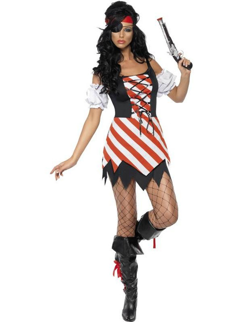 Fever Pirate Costume, UK Size 12-14